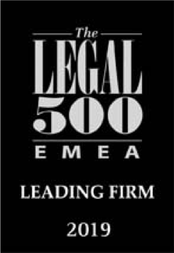LEGAL 500 EMEA – 2019 edition – Administrative and public law